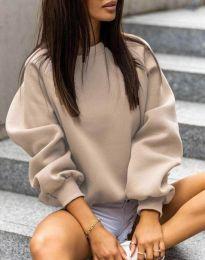 Стилна дамска блуза в бежово - код 5687