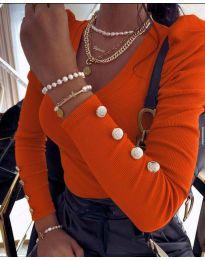 Дамска блуза в оранжево - код 2065