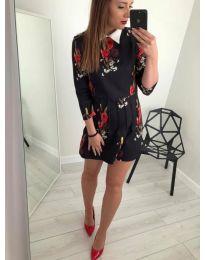 Елегантна рокля на цветя - код 939 - 1