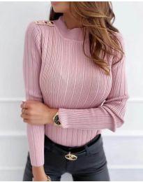 Дамска блуза в цвят пудра - код 8727
