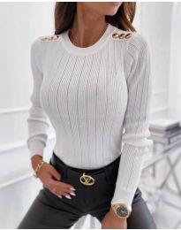 Дамска блуза в бяло - код 8727