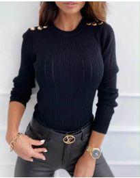 Дамска блуза в черно - код 8727