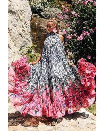 Дълга рокля с атрактивен  десен - код 703