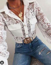 Елегантна дамска риза в бяло - код 1404