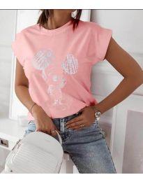 Тениска с анимационен герой в  розово - код 709