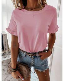 Дамска тениска в розов цвят - код 068