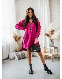 Дамска рокля в циклама - код 6113