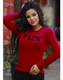 Дамска блуза в червено - код 3061
