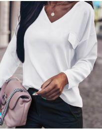 Дамска блуза в бяло - код 0802