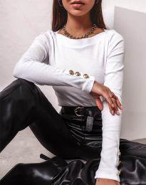 Дамска блуза в бяло - код 11565