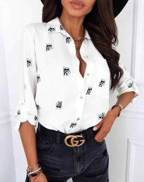 Атрактивна дамска риза в бяло - код 3223 - 3