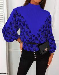 Дамска блуза в синьо - код 3829