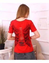 Тениска с крила в червено - код 3567