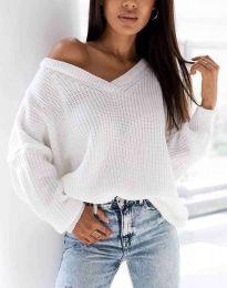 Дамски пуловер в бяло - код 0283