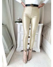 Втален дамски панталон в цвят шампанско - код 2789