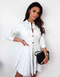 Атрактивна дамска рокля в бяло - код 3852