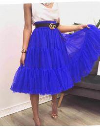 Стилна пола в  тъмно синьо - код 2060