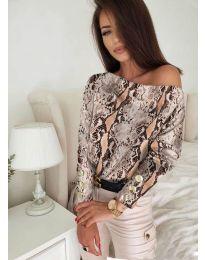 Дамска блуза с ефектен десен - код 5156 - 6