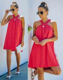 Атрактивна рокля в червено - код 9103