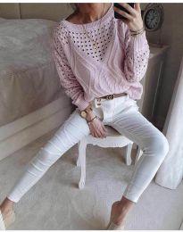 Дамска блуза в розово - код 6182