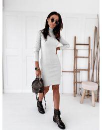 Дамска рокля в бяло - код 5696