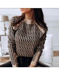 Дамска блуза с ефектен десен - код 378 - 1