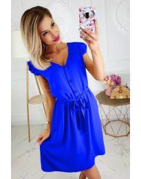 Лятна рокля с копчета в синьо - код 476