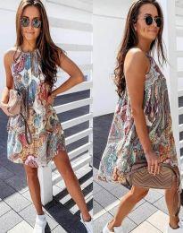 Свободна дамска рокля с флорален десен - код 3859