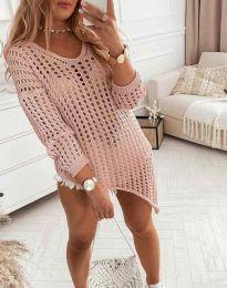 Ефектна блуза в розово - код 9969