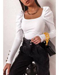 Дамска блуза в бяло - код 11517
