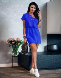 Дамска рокля в синьо - код 3214