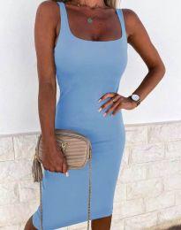 Елегантна рокля в светлосиньо - код 8899