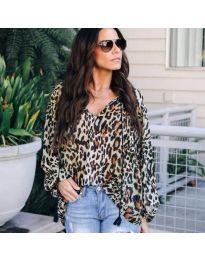 Дамска свободна блуза с тигров десен - код 304