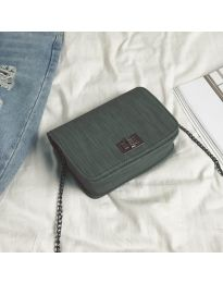 Дамска чанта в тъмно зелено - B110