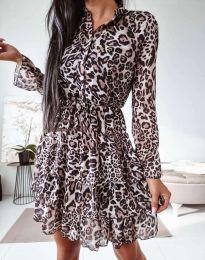 Дамска рокля с леопардов десен - код 0586 - 3