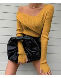 Елегантна блуза в цвят горчица- код 6250