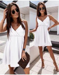 Елегантна рокля в бяло - код 1000
