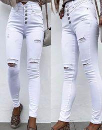 Дамски дънки в бяло - код 4397