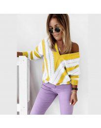 Дамска блуза в жълто - код 0907