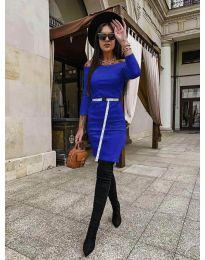 Дамска рокля в синьо - код 5190