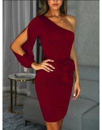 Елегантна рокля в цвят бордо - код 0579
