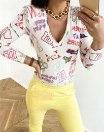 Дамска блуза с атрактивен десен - код 11633 - 5