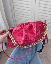 Ефектна дамска чанта в цвят циклама - код B395