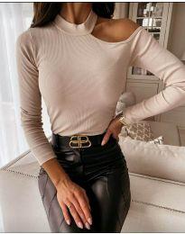 Дамска блуза в бежово - код 8570