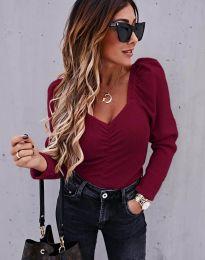 Дамска блуза в бордо - код 394