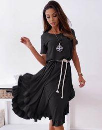 Атрактивна дамска рокля в черно - код 11893