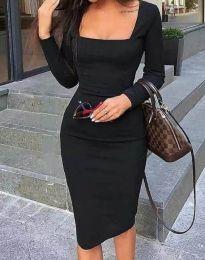 Елегантна дамска рокля по в черно - код 4521