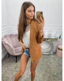 Дамско сако в  кафяво - код 8031