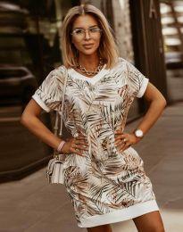 Свободна дамска рокля с атрактивен десен - код 3492 - 5