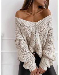 Дамска пуловер в бежово - код 407